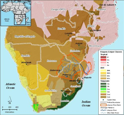 Map Of Africa Climate Zones.Climate Classification Limpopo River Awareness Kit