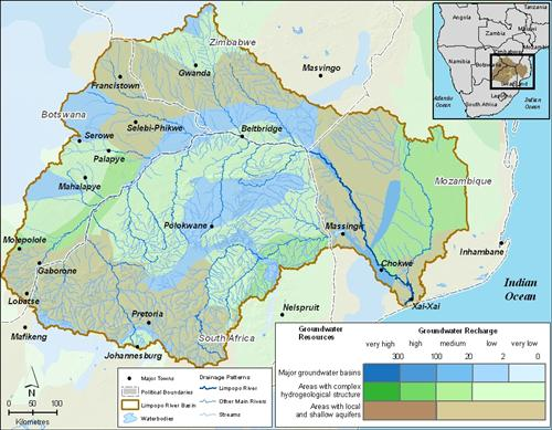 water infrastructure groundwater in the basin limpopo river